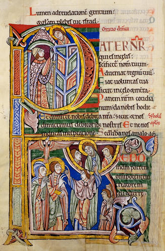 Lord's Prayer from the St. Alban Psalter