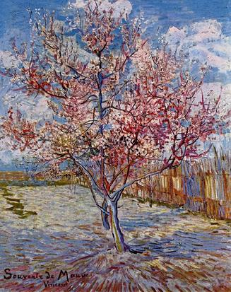 Van Gogh, Peach Tree in Bloom, 1888